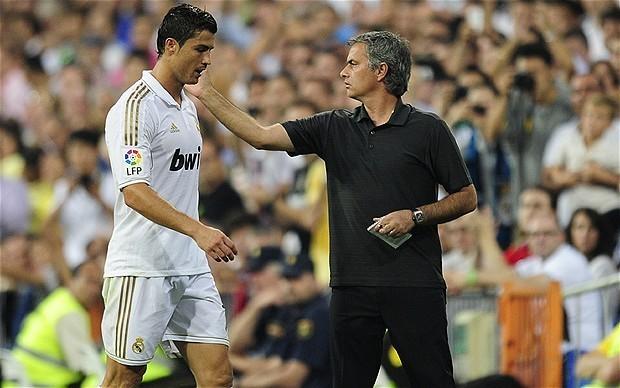 Cristiano Ronaldo si  Jose Mourinho
