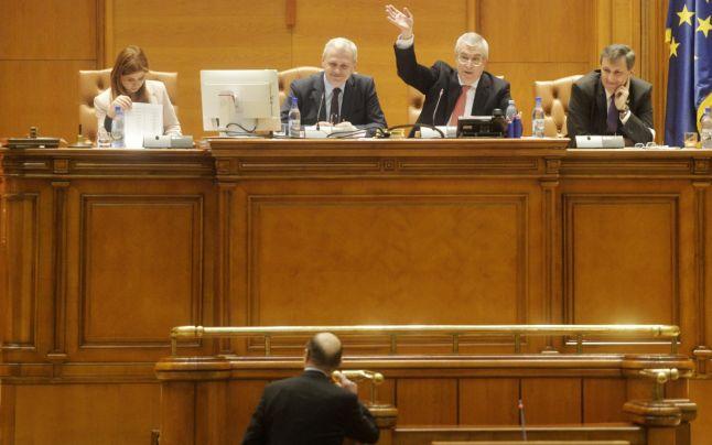 plen parlament Tariceanu Dragnea